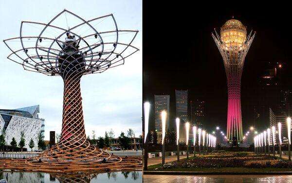 Il simbolo dell'Expo di Milano e la torre Bayterek di Astana: entrambi albero della vita - Sputnik Italia