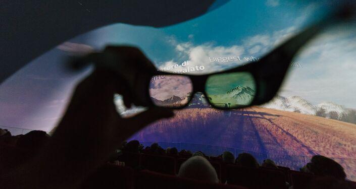 Il cinema interno al padiglione kazako