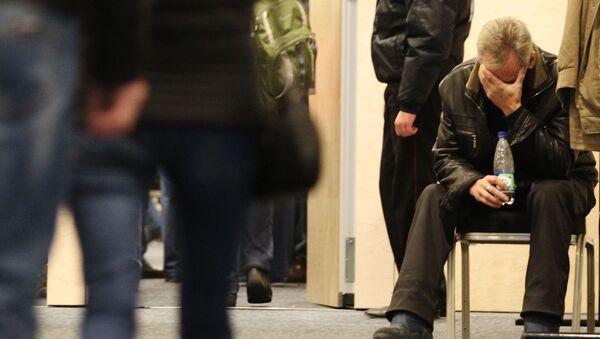 Родственники погибших в результате авиакатастрофы в Египте в аэропорту Пулково - Sputnik Italia