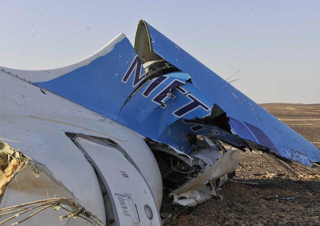 Rottami dell'Airbus A321 russo precipitato in Egitto