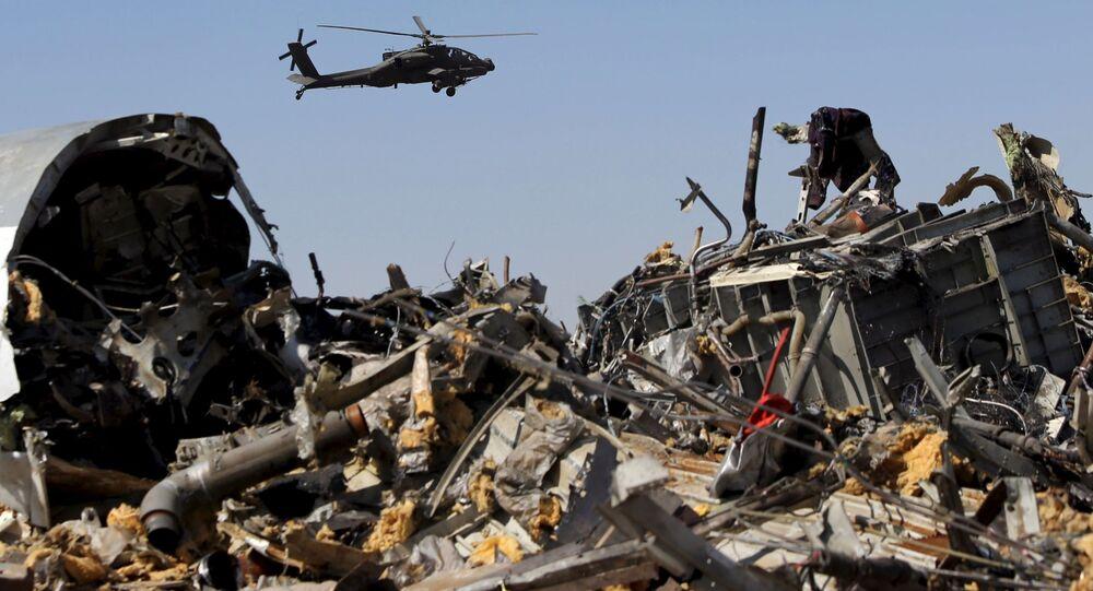 I rottami dell'Airbus-321