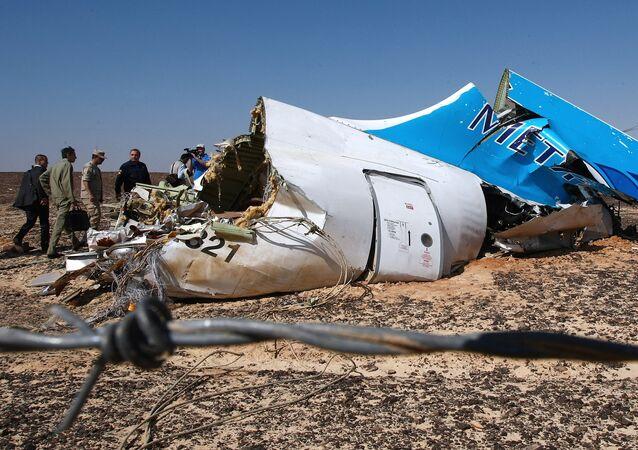 Rottami dell'Airbus russo in Egitto