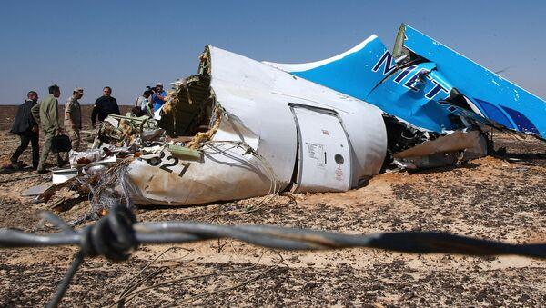 Rottami dell'Airbus russo in Egitto - Sputnik Italia