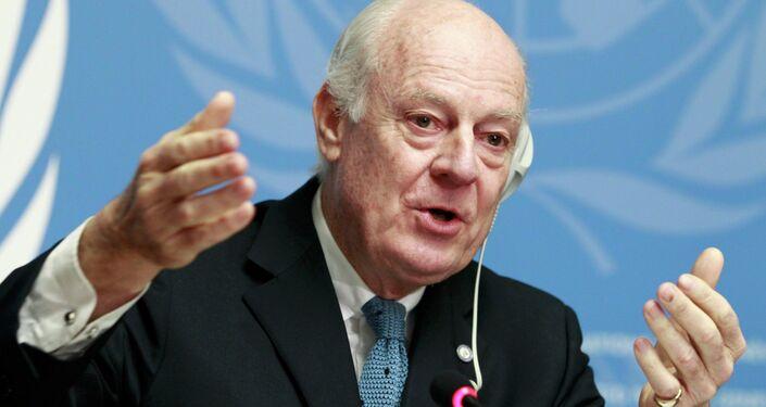 Staffan de Mistura, inviato delle Nazioni Unite per la Siria