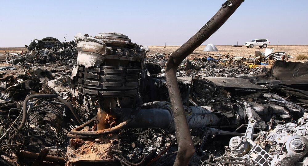 Airbus A321 luogo dello schianto in Egitto