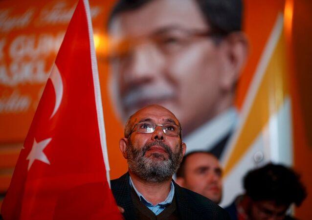 Sostenitori del Partito Giustizia e Sviluppo di Erdogan, Turchia