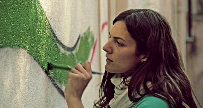 Chiara Paladino, membro del coordinamento della provincia di Trapani contro la Guerra e contro la Nato.