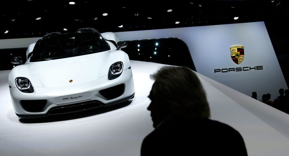 A Porsche 918 Spyder is presented during the media day at the Frankfurt Motor Show (IAA) in Frankfurt, Germany September 15, 2015