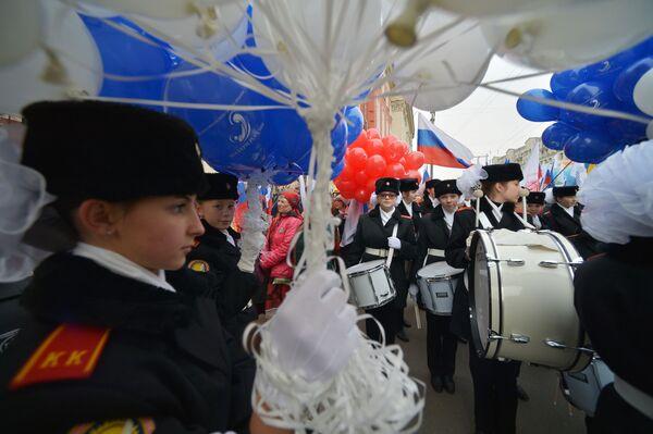 I partecipanti della manifestazione Siamo uniti! a Mosca dedicata alla Giornala dell'unità nazionale. - Sputnik Italia