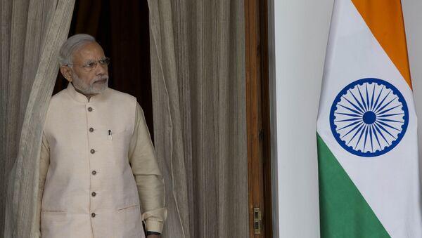 Премьер-министр Индии Нарендра Моди во время Африканско-индийского саммита в Нью-Дели - Sputnik Italia