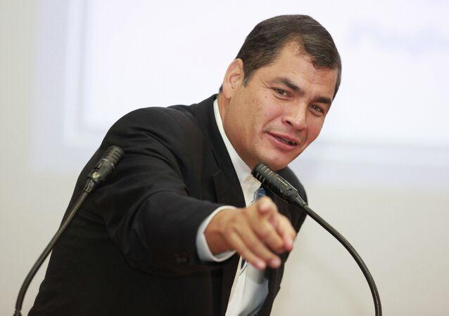 Rafael Correa, presidente dell'Ecuador