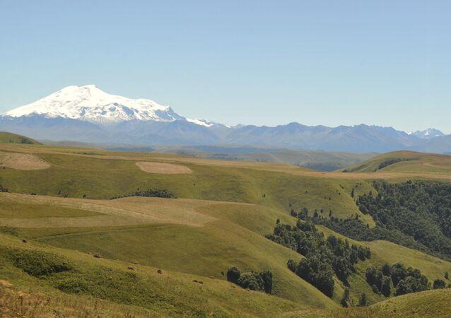La vetta del monte Elbrus