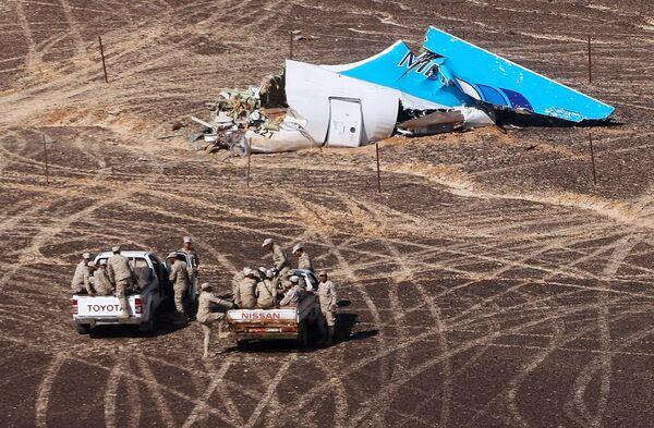 Il luogo della sciagura dell'Airbus A321 in Egitto. - Sputnik Italia