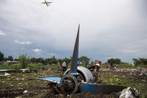 I rottami dell'Airbus A321 in Sudan del Sud. - Sputnik Italia