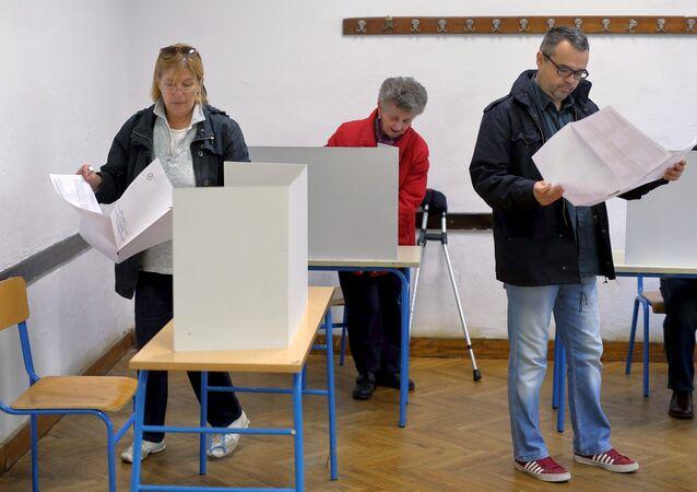 Alle elezioni in Croazia.