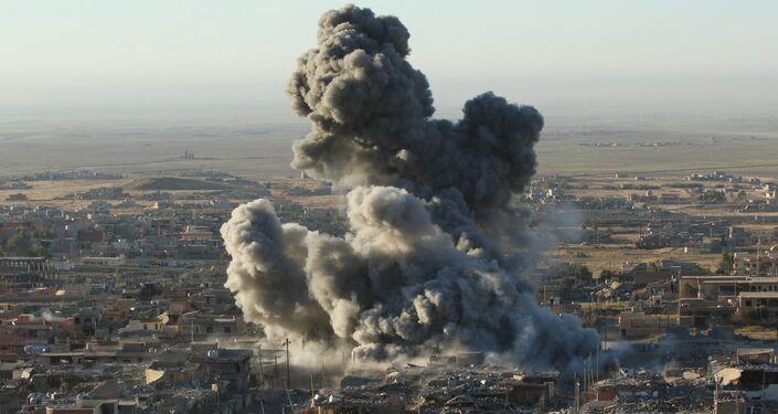 La città curda di Sinjar, dove l'ISIS ha fatto strage della locale popolazione yazida