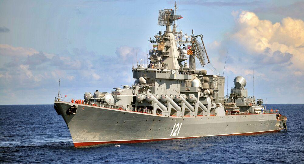 Incrociatore missilistico Moskva (foto d'archivio)