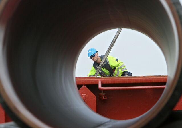 Gasdotto in costruzione