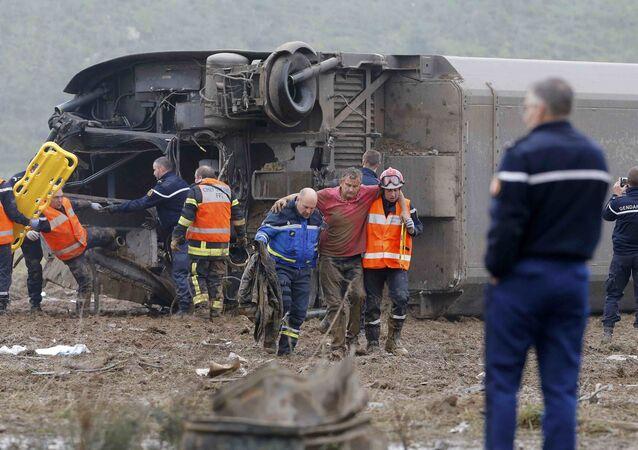 Un TGV d'essai déraille en France