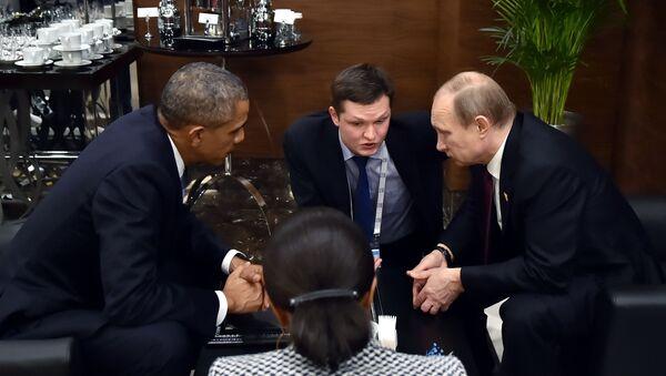 Vladimir Putin e Barack Obama al G20 in Turchia - Sputnik Italia