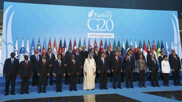 I leader dei Paesi di G20 in Turchia. - Sputnik Italia