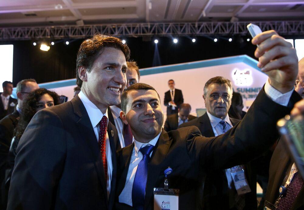 Il premier canadese Justin Trudeau al summit G20 in Turchia.