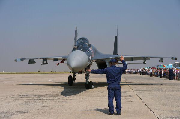 Caccia multiruolo russo Su-35. - Sputnik Italia