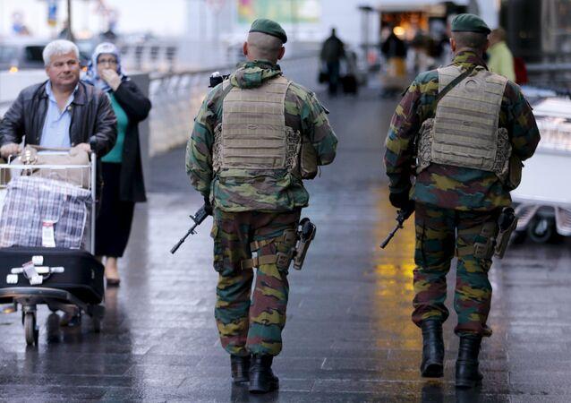 Soldati belgi a Bruxelles