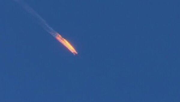 Il caccia russo Su-24 abbattuato - Sputnik Italia