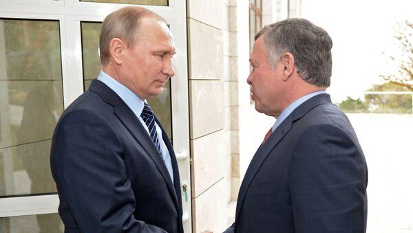 Vladimir Putin e il re di Giordania Abdullah II - Sputnik Italia