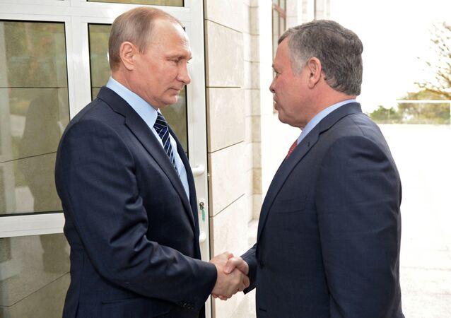 Vladimir Putin e il re di Giordania Abdullah II