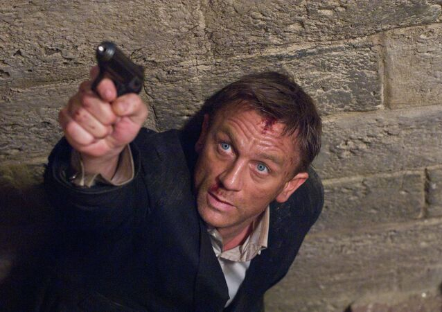 Daniel Craig stars as James Bond 007 in pursuit of an Mi6 traitor in a scene from Quantum of Solace