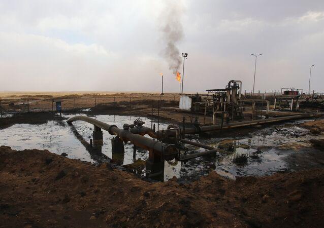 Impianto petrolifero in Siria settentrionale