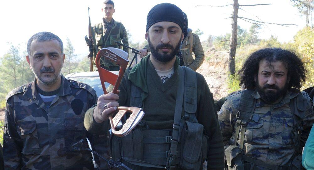 Ribelli turcomanni che hanno ucciso il pilota russo del jet Su-24