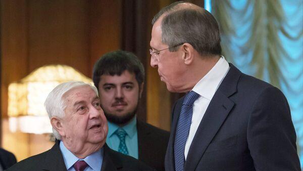 Walid Muallem e Sergey Lavrov - Sputnik Italia
