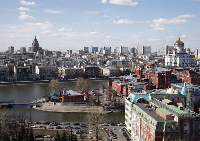 Una vista di Mosca, Russia