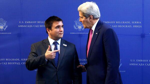 Incontro ministro Esteri dell'Ucraina Pavlo Klimkin e segretario di Stato USA John Kerry - Sputnik Italia