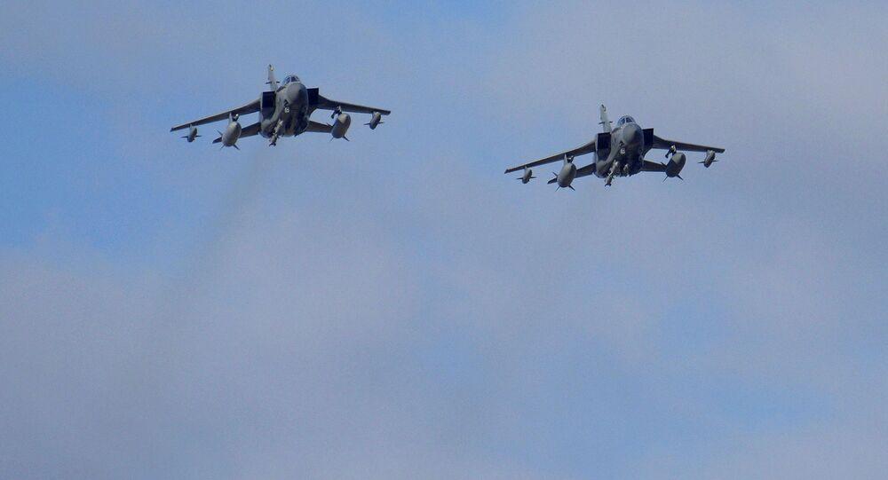Caccia Tornado dell'Aviazione britannica in Siria