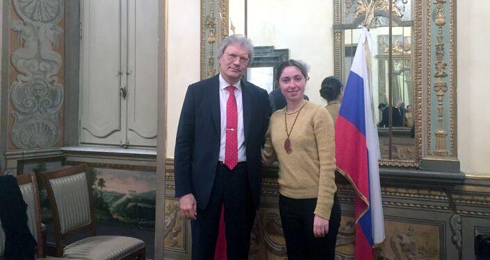 Ambasciatore Razov e Tatiana Santi
