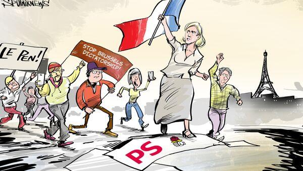 La vittoria di Marine Le Pen - Sputnik Italia