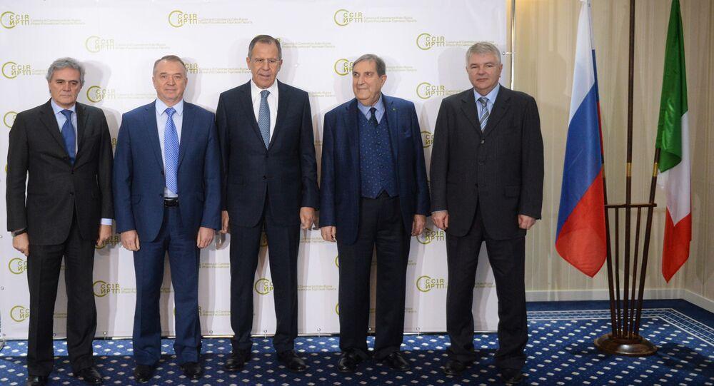 Il ministro degli Esteri Lavrov alla colazione di lavoro organizzata dalla Camera di Commercio Russo Italiana