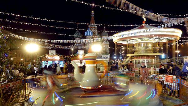 Mosca illuminata a festa - Sputnik Italia