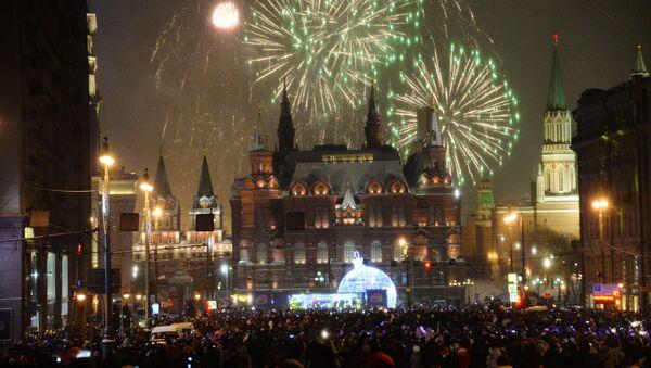 Veglione di Capodanno nel centro di Mosca - Sputnik Italia