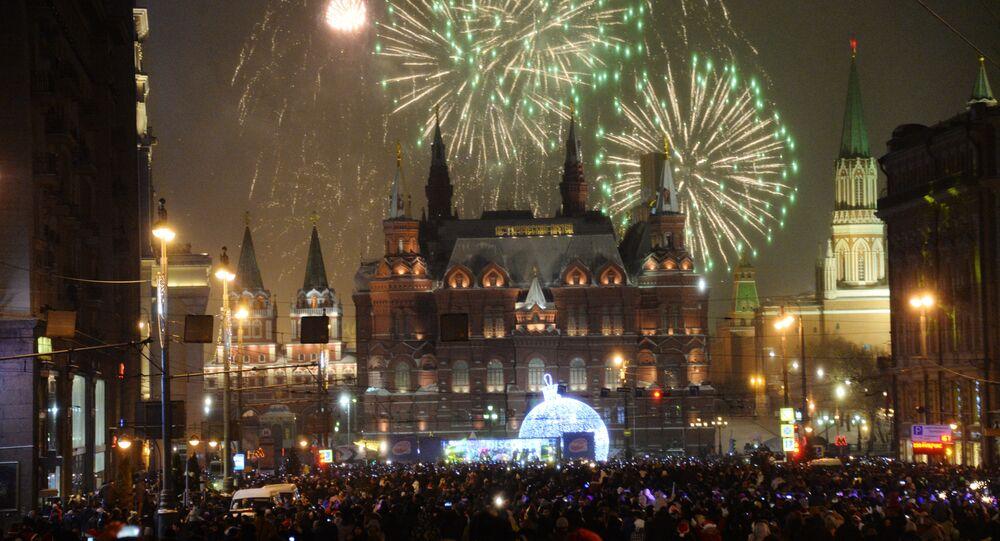 Veglione di Capodanno nel centro di Mosca