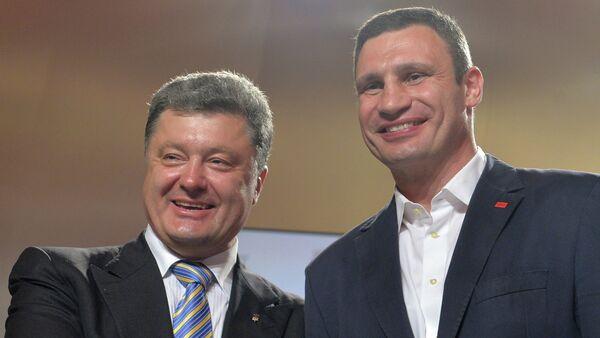 Presidente Petr Poroshenko e sindaco di Kiev Vitali Klitschko - Sputnik Italia