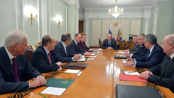 Incontro di Vladimir Putin con i rappresentanti del Consiglio di Sicurezza - Sputnik Italia