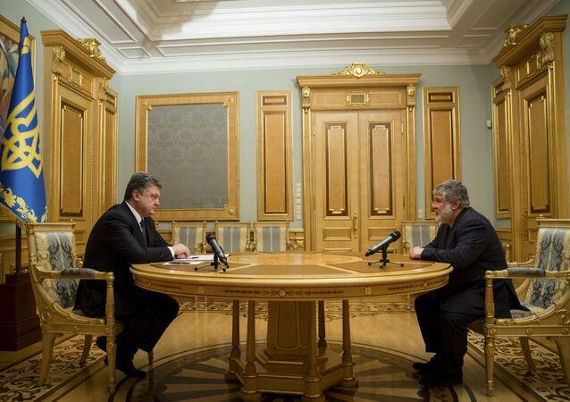 Petr Poroshenko ed Igor Kolomoysky