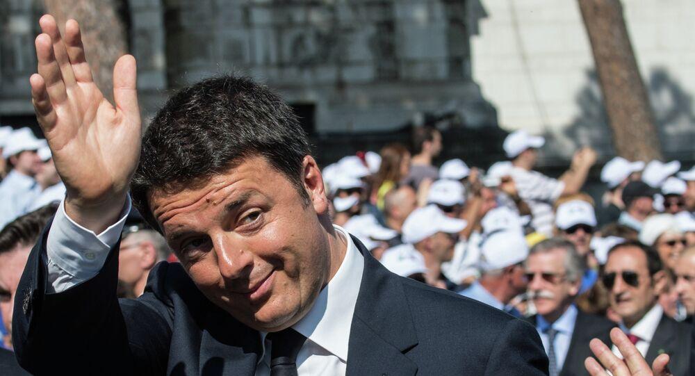 L'ex premier italiano Matteo Renzi