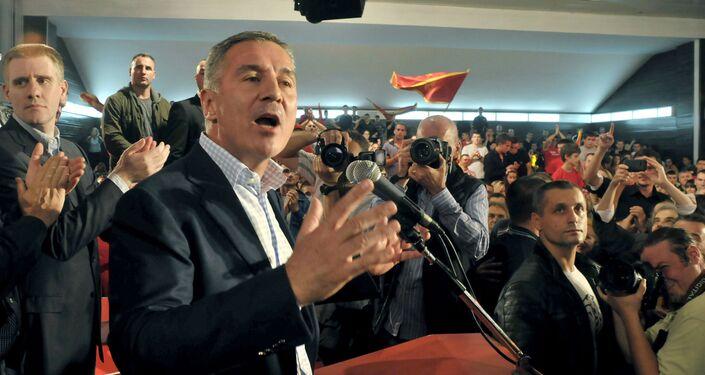 Il primo ministro del Montenegro Milo Djukanovic