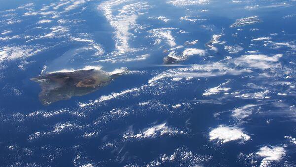 Il vulcano Kilauea visto dallo spazio - Sputnik Italia